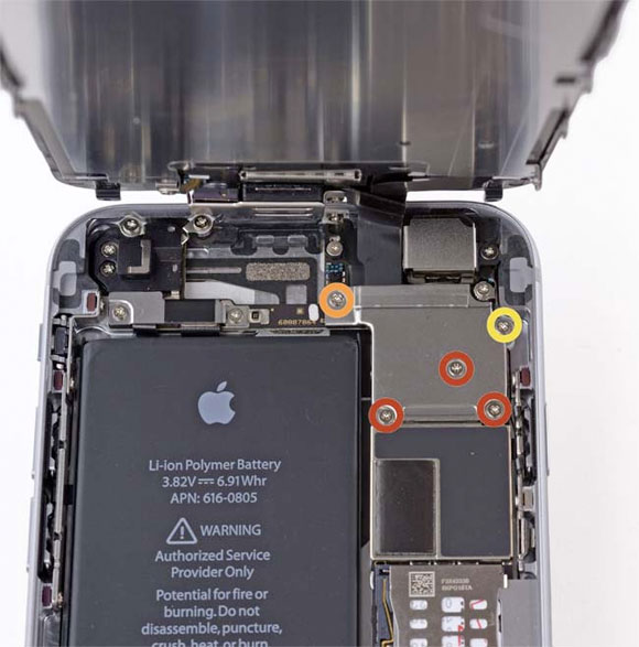 iPhone 6 por dentro
