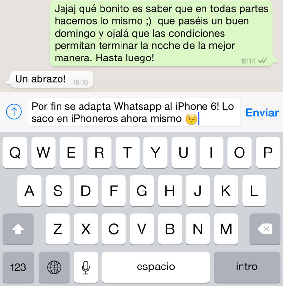 Whatsapp en el iPhone 6