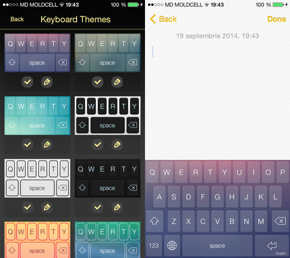 TapTap Keyboards for iOS8