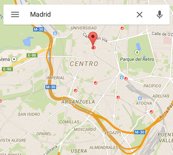 Google Maps en iOS