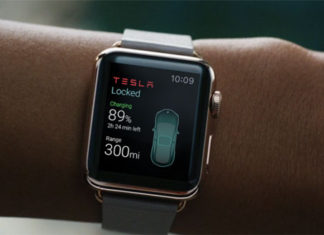 App de Tesla en el Apple Watch
