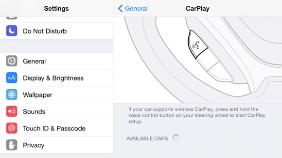 CarPlay inalámbrico en un iPad