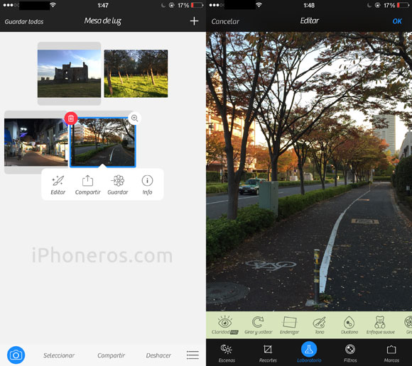 Camera+ a la resolución nativa del iPhone 6