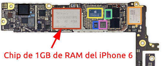 Chip de RAM del iPhone 6