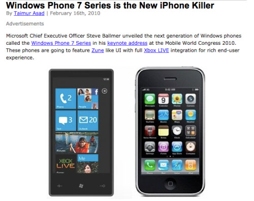 Todos los Windows Phone 7
