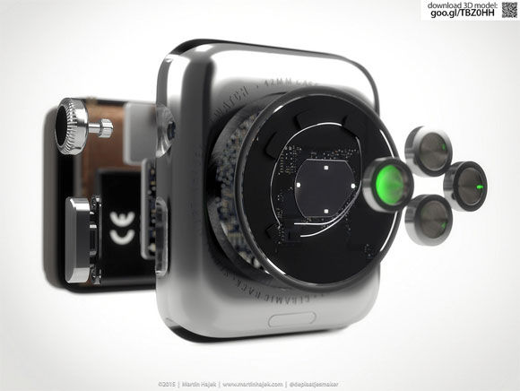 Concepto de diseño de Apple Watch por dentro