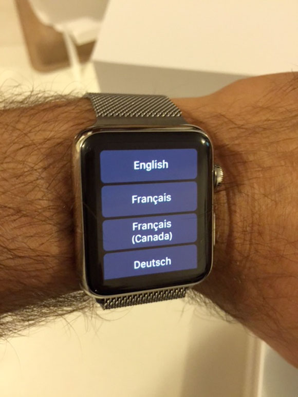 Elegir idioma en el Apple Watch