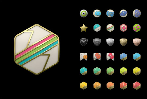 Logos de logros del Apple Watch