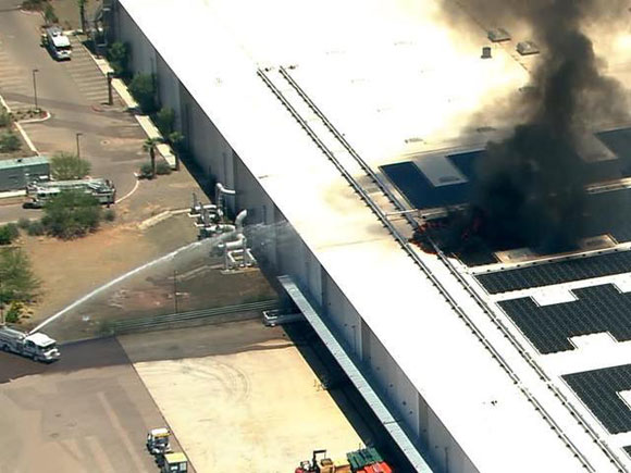 Incendio en la fábrica de GT Advanced
