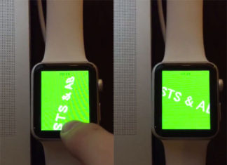 Apple Watch ejecutando un objeto 3D