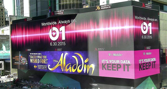 Cartel en Times Square