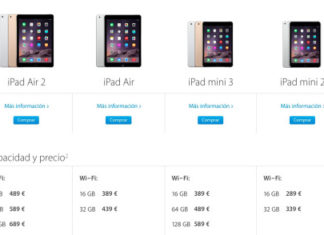 iPads en la web de Apple
