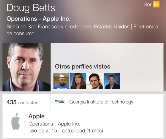 Perfil de Doug Betts en LinkedIn