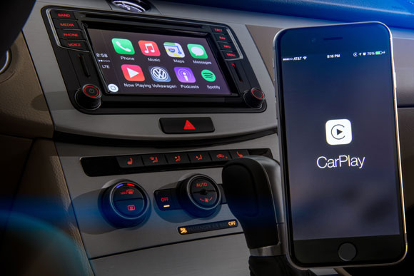 CarPlay en un Volkswagen