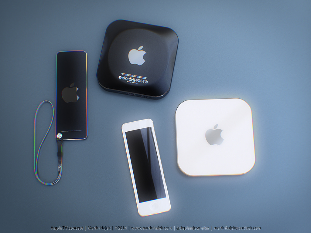 Concepto de diseño de Apple TV (by Martin Hajek)