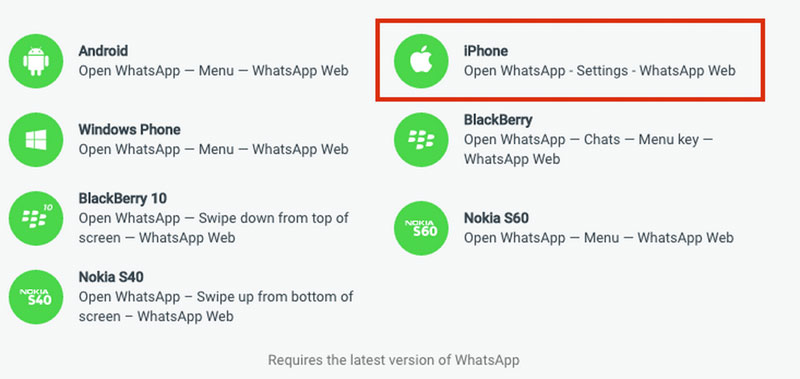 Whatsapp web para iPhone