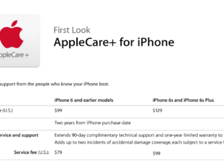 AppleCare+ para iPhone 6S