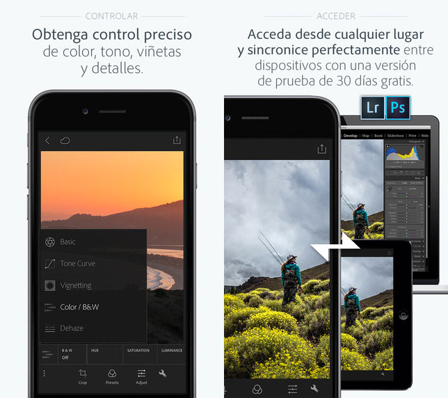 Adobe Photoshop Lightroom para iPhone