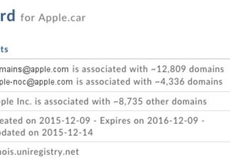 Registro del dominio Apple.car