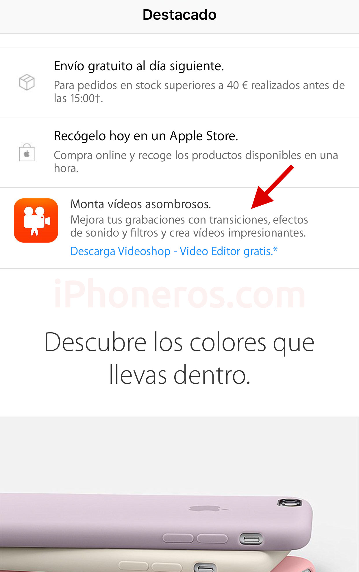 Regalo en la App de la Apple Store