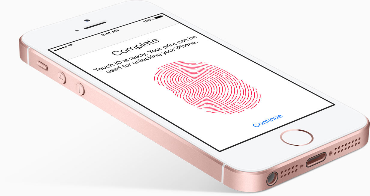 Touch ID en el iPhone SE
