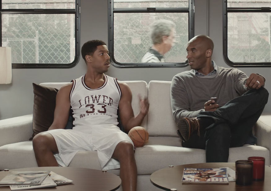 Kobe Bryant en un anuncio de TV de Apple