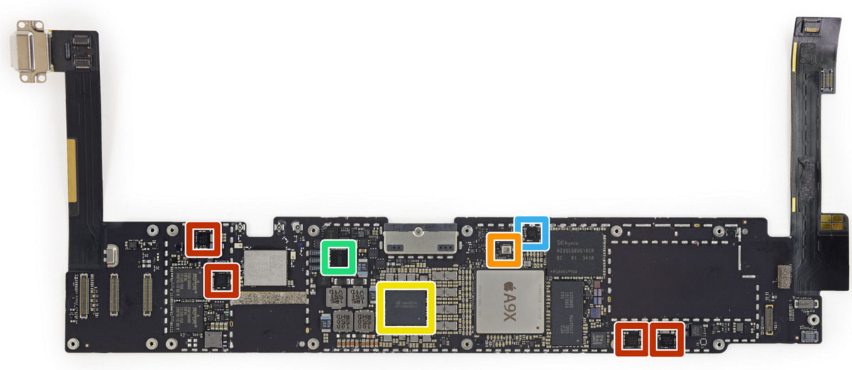 Placa base del iPad Pro de 9,7 pulgadas
