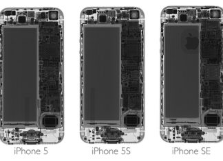 iPhone 5, 5S y Se vistos con rayos X