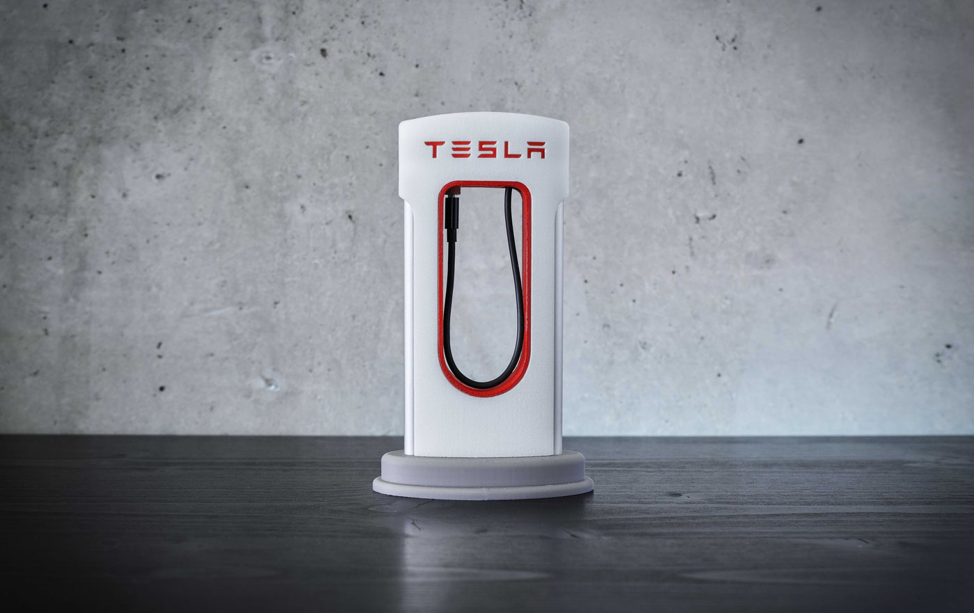 iPhone Tesla Supercharger