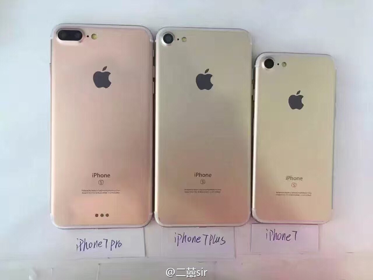 Maquetas del iPhone 7, Plus y Pro