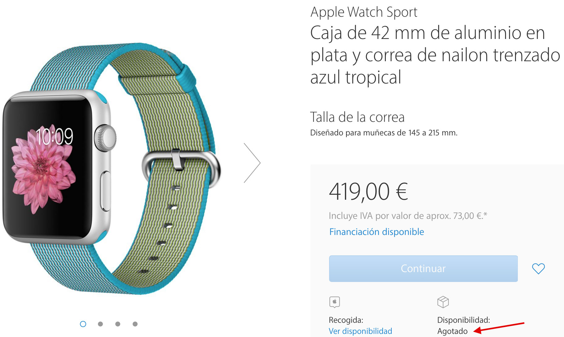 Apple Watch agotado