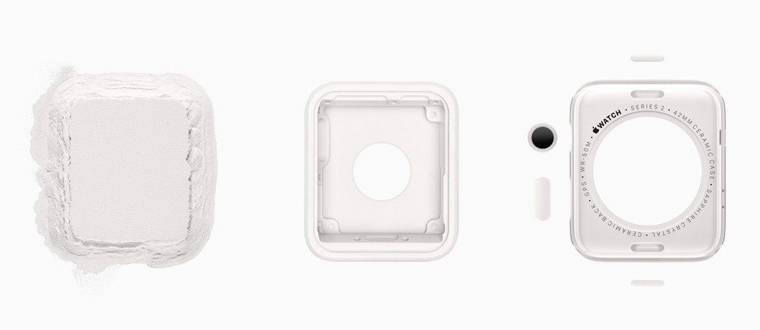 Carcasa Unibody del Apple Watch 2 Edition de cerámica