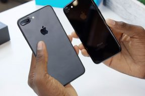 iPhone 7 Plus negro y iPhone 7 Jet Black