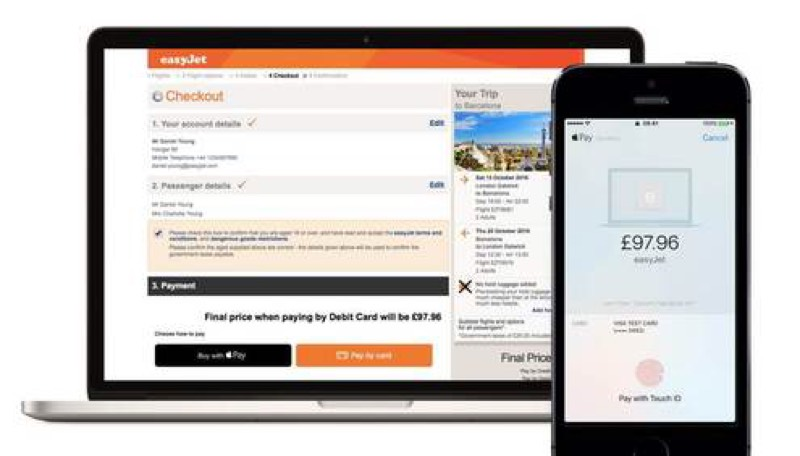 easyJet con Apple Pay
