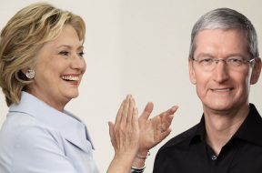 Hillary Clinton y Tim Cook