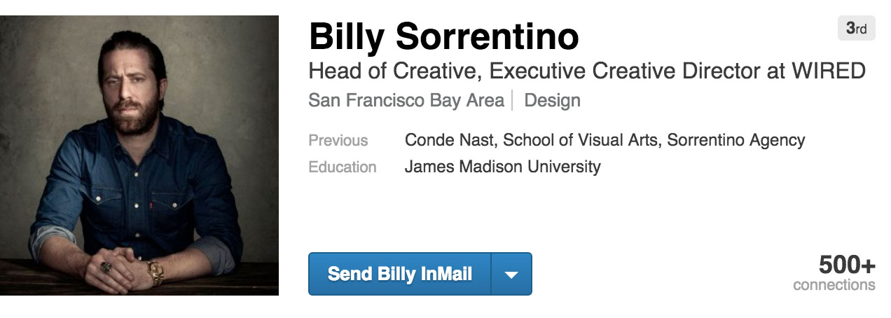 LinkedIn de Billy Sorrentino