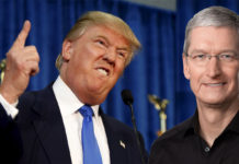 Donald Trump y Tim Cook