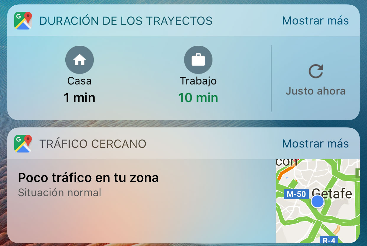 Widgets de Google Maps