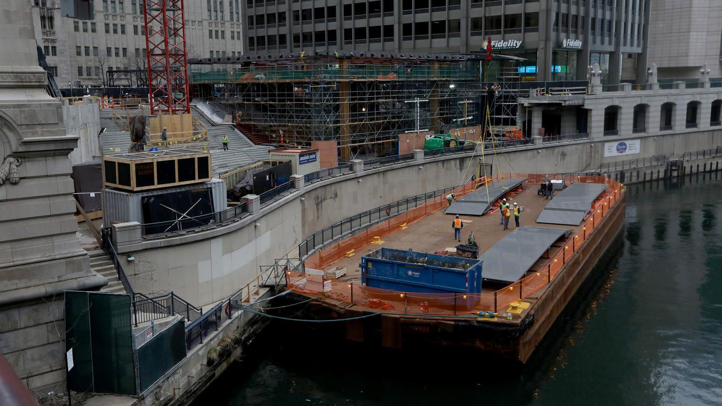 Obras de la Apple Store Chicago River