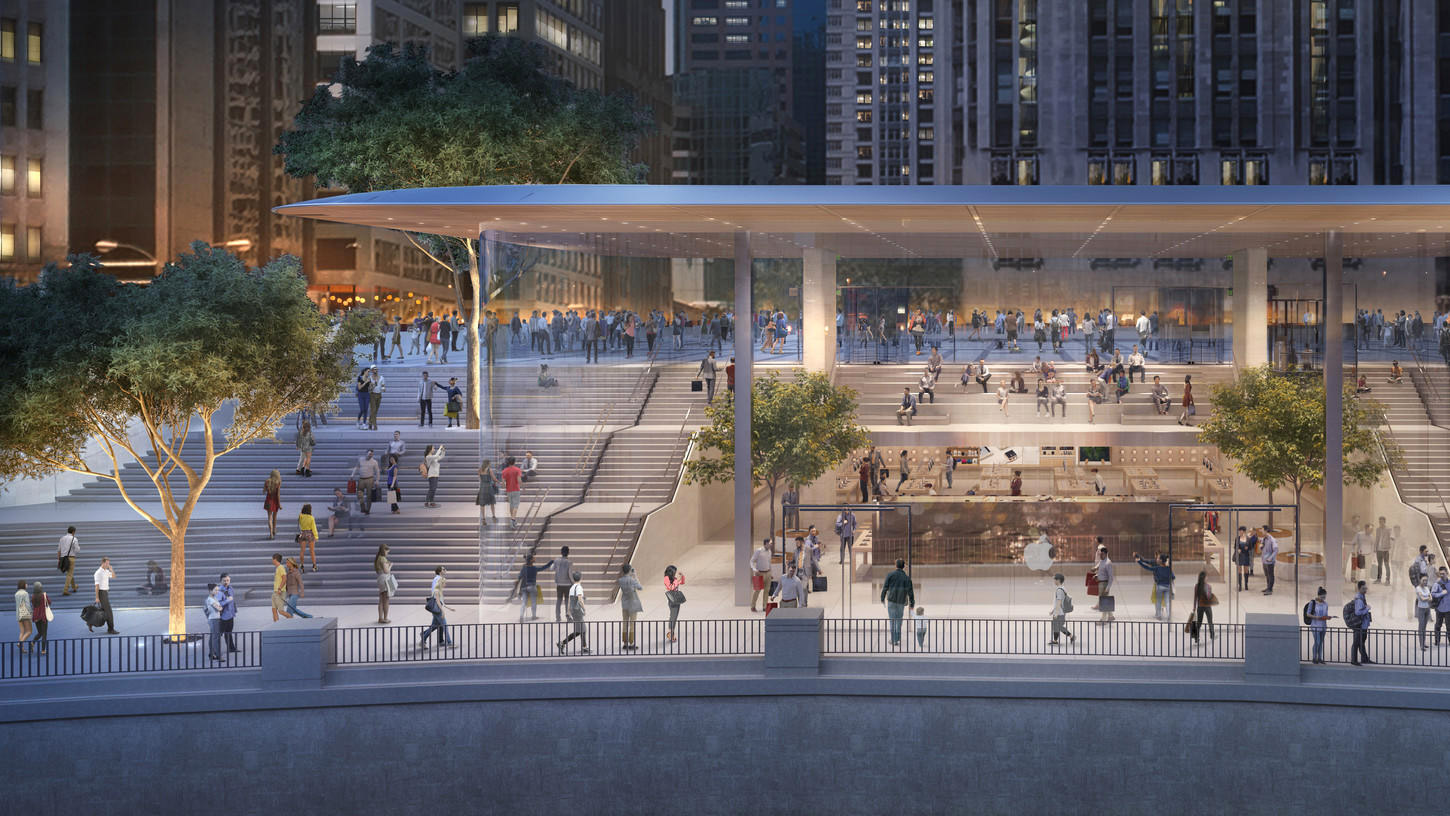 As ser la nueva apple store de chicago river casi toda - Donde estan las oficinas de apple ...