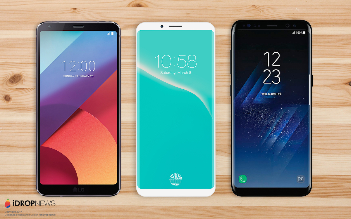 LG G7, concepto de iPhone 8, Galaxy S8