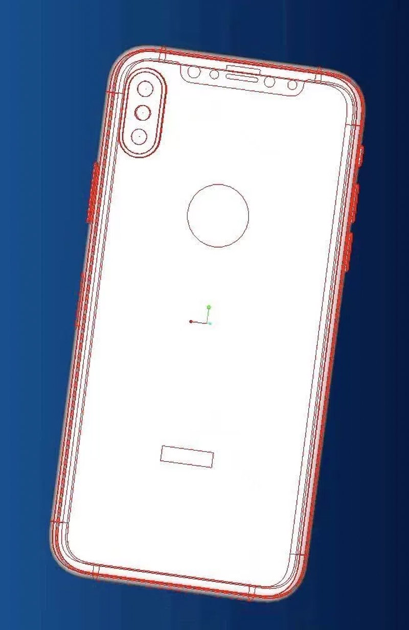 Supposed scheme of the iPhone 8