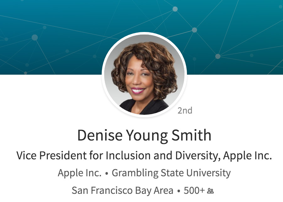 Página de LinkedIn de Denise Young