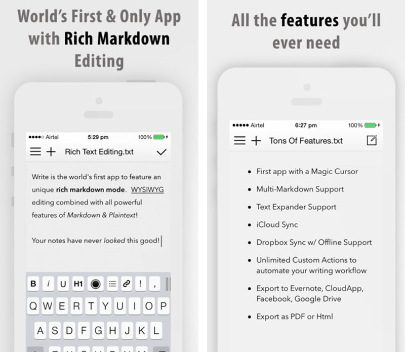 Write for iPhone