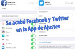 Apple elimina Facebook y Twitter de iOS 11