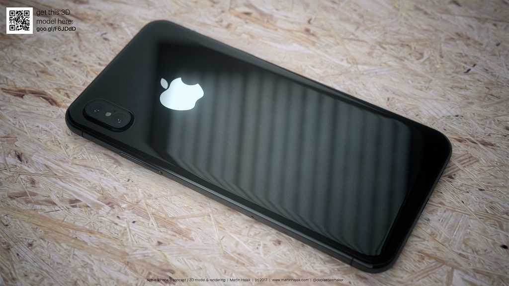 Design concept of iPhone 8 in black