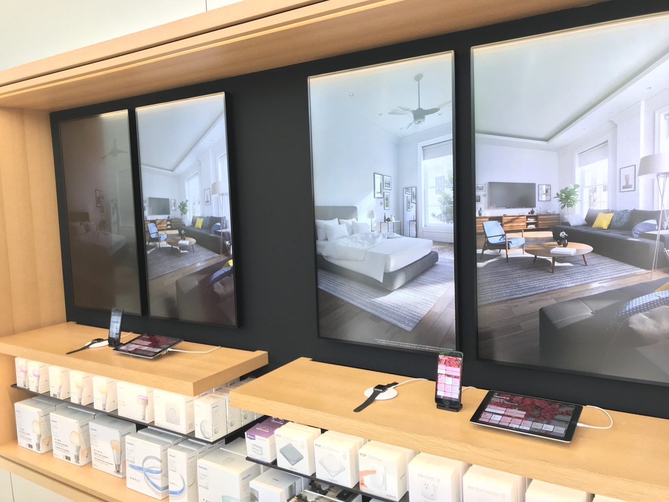 Demostración de HomeKit en una Apple Store