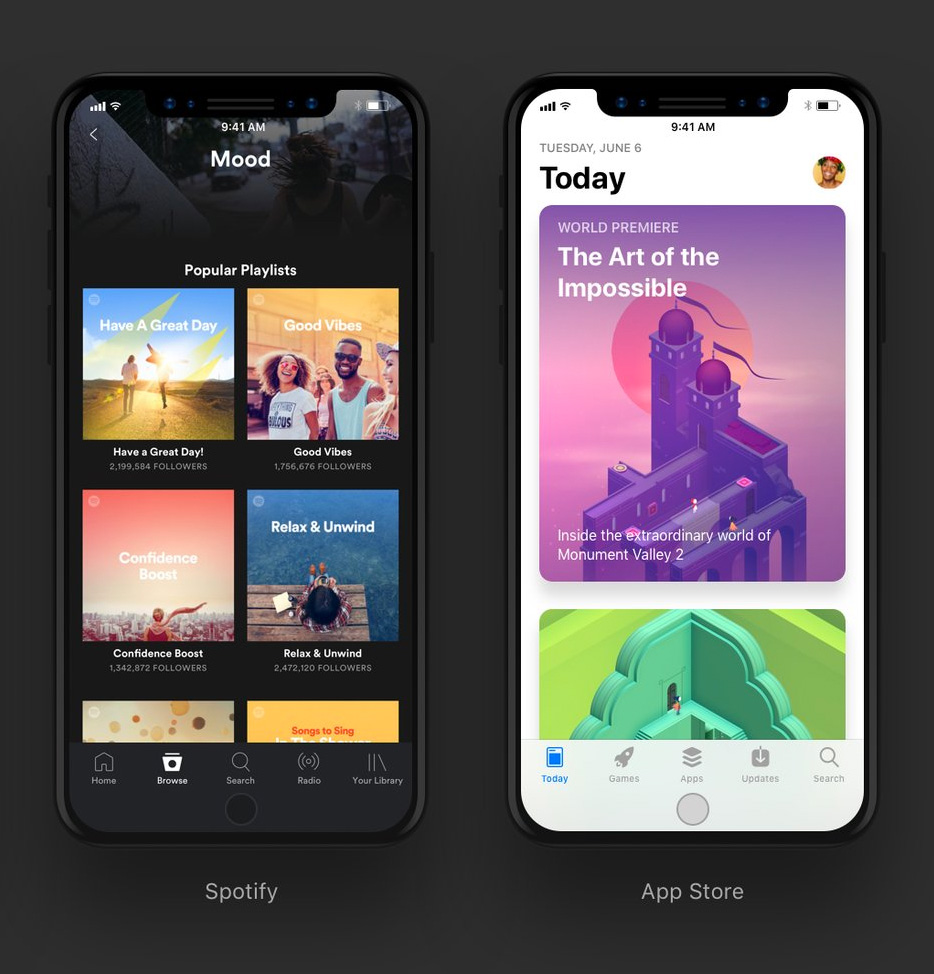 Design concept of iOS 11 on an iPhone 8