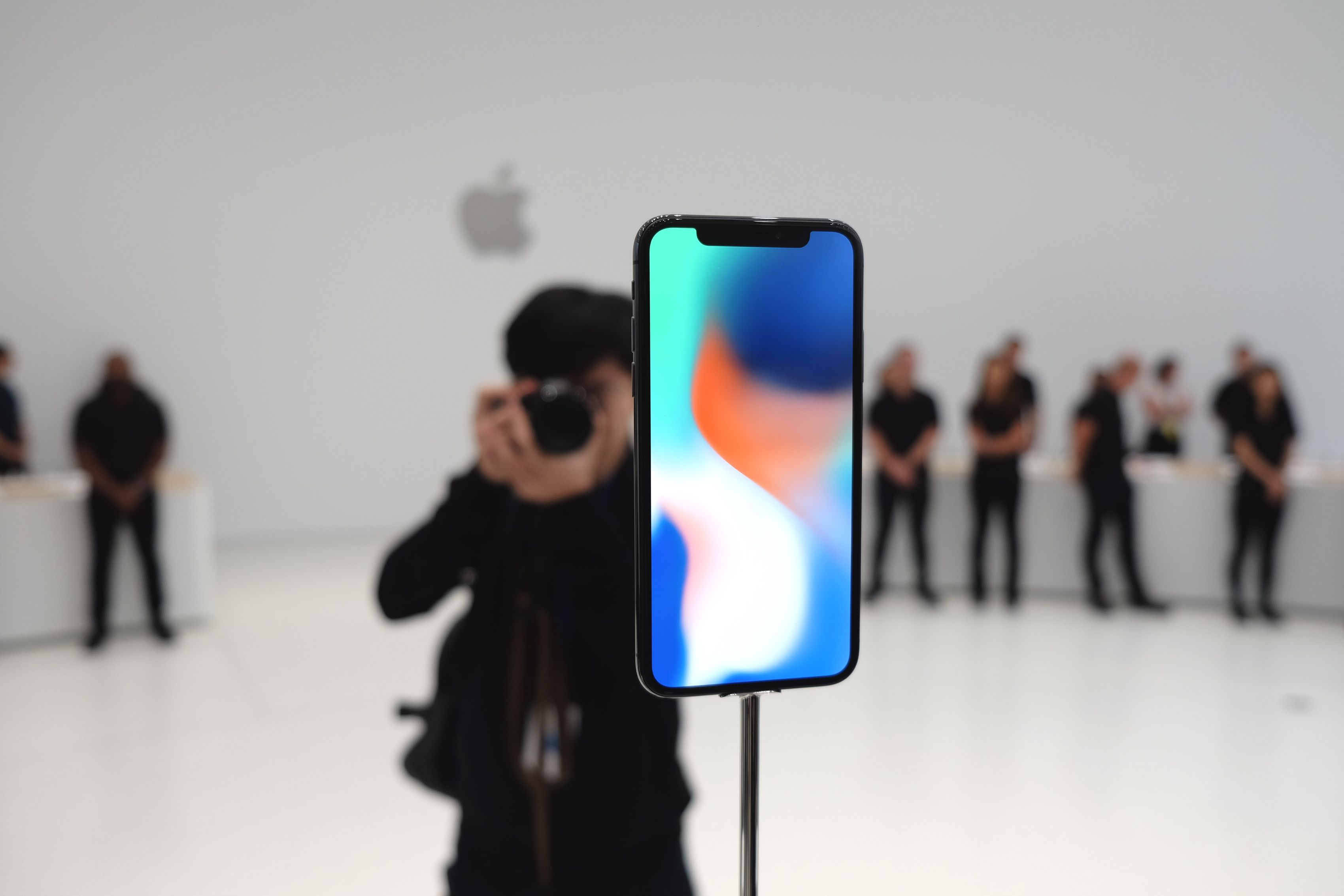 iPhone X en la sala de demostraciones