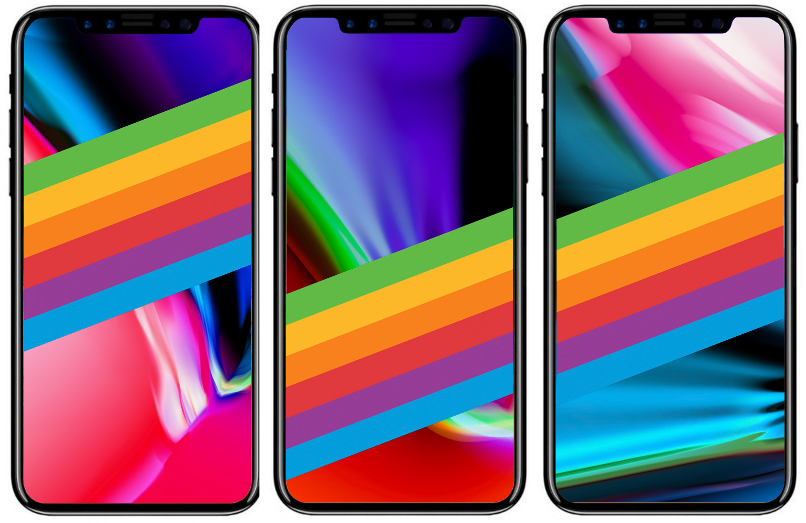 Fondos de pantalla del arcoiris de Apple para iPhone